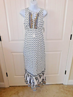 New With Tags NWT Old Navy Maternity Sleeveless Tiered Maxi Dress XL extra Large