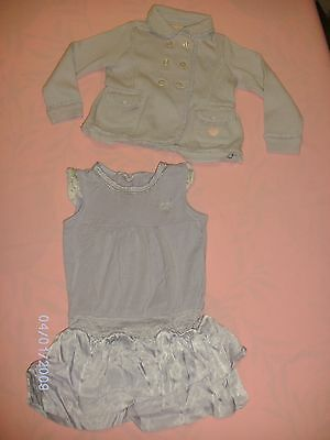 "213. "" CHICCO "" Ensemble fille, taille 2 ans - 92 cm.Prix neuf 65 €.COMME NEUF"