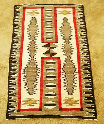 Large Old Crystal Navajo Storm Pattern Rug