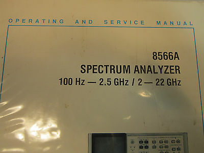 HP 8566A Spectrum Analyzer Operating and Service Manual Volume 3