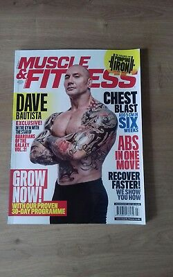 Muscle & Fitness bodybuilding mag July/August 17 Dave Bautista on cover