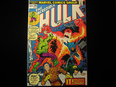The Incredible Hulk #166 1973 - MARVEL COMICS - Free Shipping