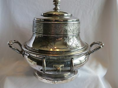 Antique 1916 James W Tufts Boston Triple Plate Silver Covered Butter Dish Server