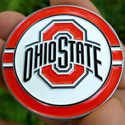 PREMIUM NCAA Ohio State Buckeyes Poker Card Protector Collector Coin Golf Marker