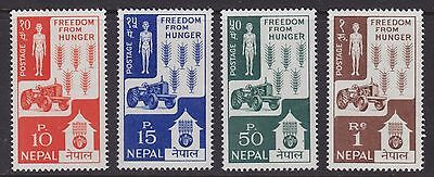 1953 Nepal Freedom For Hunger Campaign Agriculture Tractor St.159-182 Mi.168