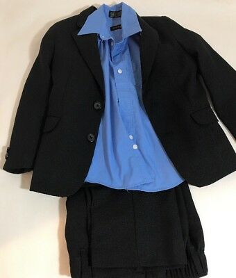 Boys Dockers Black 3 Piece Suit Jacket Pants Shirt Size 5/6