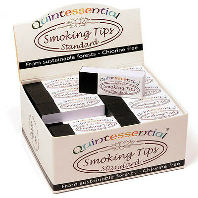 UK Quintessential Smoking Filter Tips White Standard Tobacco Roaches
