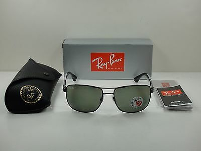3813489c75 Ray-Ban Polarized Sunglasses Rb3533 002 9A Black Frame green Classic Lens  57Mm