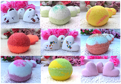 Large Handmade Bath bombs - Buy 3 get 1 Free - Build your own Xmas gift set
