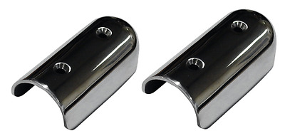 Boat Gunwale End Cap Fender / Buffer End Cap for Boat Stainless Steel x 2 Pieces