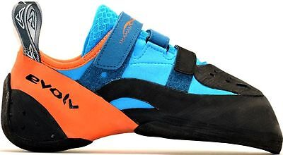 New Evolv Shaman 2 Rock Climbing Shoe, UK 9 / EU 43, Orange/Blue