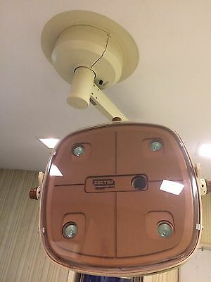 Burton's Surgical O.R. Light, Ceiling Mounted, Model: 0171020. One Arm.