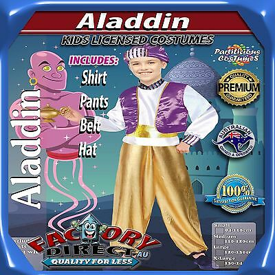 NEW! High Quality Boys Kids Aladdin Character Childrens Dress Up Costume Outfit!