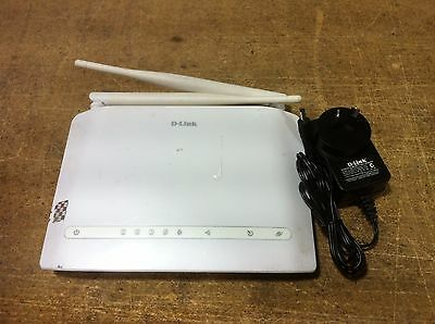 D-Link DSL-2750B Wireless ADSL2+ Modem 4-Port Switch / Router Wifi W/ Adapter