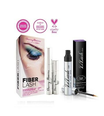 LILASH Demi Eyelash Growth Serum 2ml and CHERRY BLOOMS Fiber Mascara Value Pack