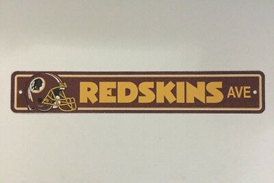 Redskins Ave Official NFL Football Street Sign Licensed Durable Man Cave 4 x 24