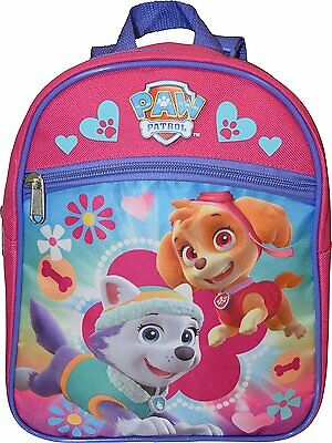 "Paw Patrol Little Girls Toddler Preschool Backpack Small BookBag Pink 10"" Mini"