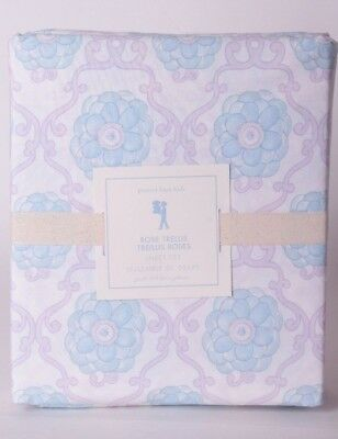 NWT Pottery Barn Kids Rose Trellis full sheet set sheets lavender purple aqua
