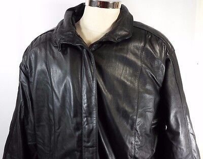 Wilsons Men's Leather Motorcycle Bomber Jacket Coat Insulated Lining EUC! Size L