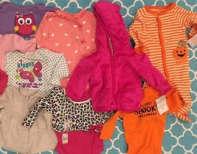 Baby Girl clothes 6-9 months lot jacket onsies sleepers footies 20 pc lot NWT