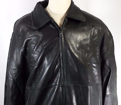 Today's Man Men's Leather Motorcycle Jacket Coat Soft Heavy Lined EUC! Size XL