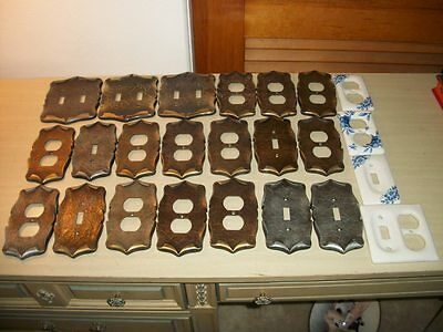 Vintage Lot Amerock Carriage House Ornate Metal Wall Outlet Switch Plate Covers