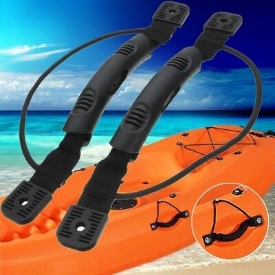 1Pair DIY Kayak Carry Handle Canoe Boat Side Mount With Bungee Cord Accessories