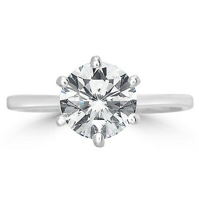 Colourless D Genuine HUGE 1.01 Ct Solitaire Diamond Engagement Ring White Gold
