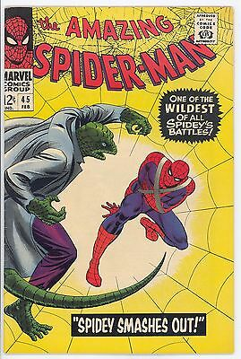 The Amazing Spider-Man #45 Feb 1967 3rd Lizard Unrestored Very Fine++ Condition