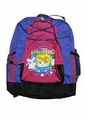 "HT2198 HAMTARO Large Backpack 16"" x 12"" with Bottle"