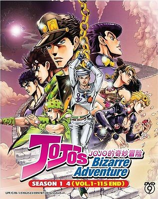 DVD Anime Jojo's Bizarre Adventure Season.1-4 vol.1-115 End