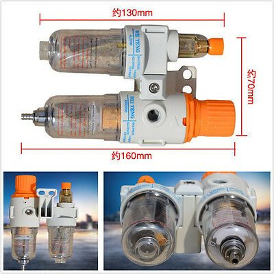 1x Car Air Pressure Regulator Compressor Oil/Water Separator Trap Filter w/Gauge