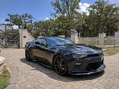 2016 Chevrolet Camaro SS Coupe 2-Door Custom 2016 Chevy Camaro 2SS - Blacked Out, 6.2L V8, Auto, NPP, Sunroof, Lowered