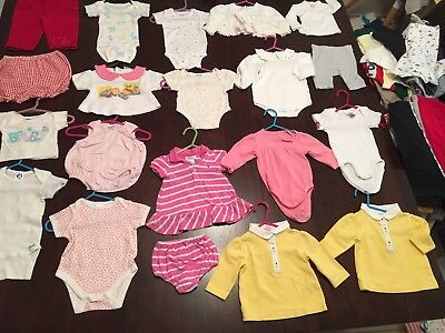 Baby Girls Clothes 0-3 Month Size 000 Bulk Lot Summer 20 Items Lot 4