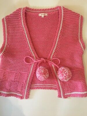 Gorgeous Seed Girls Knitted Vest - Size 9-10