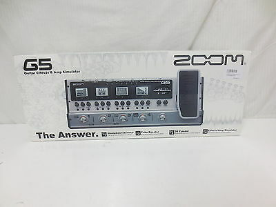 Zoom G5 Guitar Effects Pedal & Amp Simulator - USB Recording Interface
