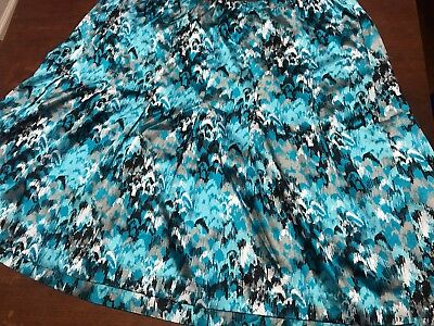 Lane Bryant Size 24 Stretch Waist Skirt Blue Black Grey And White Plus Size