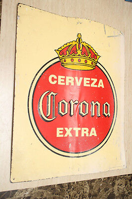 "Vintage Corona Extra 100% Metal Beer Sign Cerveza  21"" x 26"" FOR BAR OR MANCAVE"