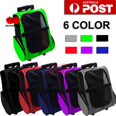 Au 6 Colors Dog Pet Cat Trolley Carrier Stroller Travel Backpack Bag With Wheels