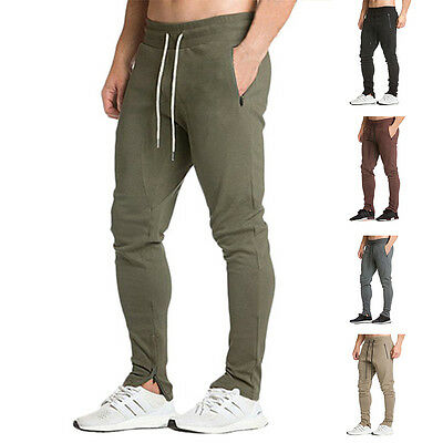 TRACKIES MENS SLACKS Sports Skinny Joggers Gym Tracksuits Bottoms TRACK PANTS