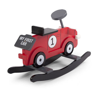 CHILDWOOD Kids Children's Rocking Car Toy My First Car Red and Black CWRFCR