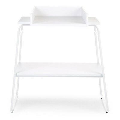 CHILDWOOD Baby Changing Table with Storage Shelf High Wall Wood White CHTIWH