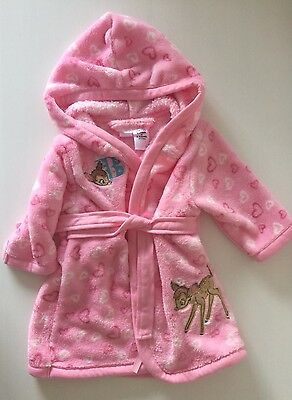Disney Bambi Baby Girls Dressing Gown Size 00