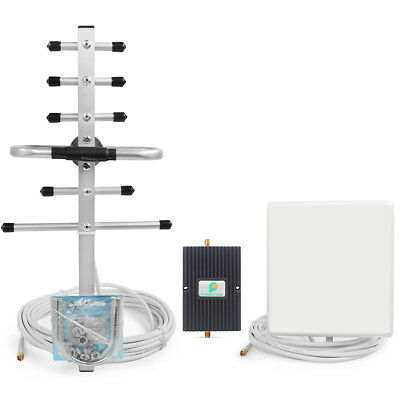 850/1900Mhz 65dB Cellphone Signal Booster 3G GSM Repeater Amplifier+Yagi Antenna