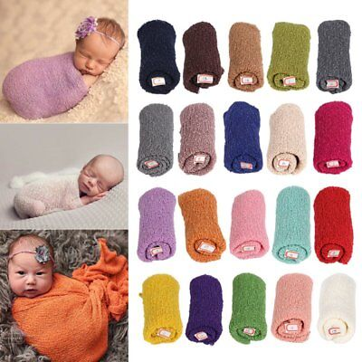 Cotton Stretch Knit Wrap Infant Photography Props Newborn Baby Kids Nubble Wraps
