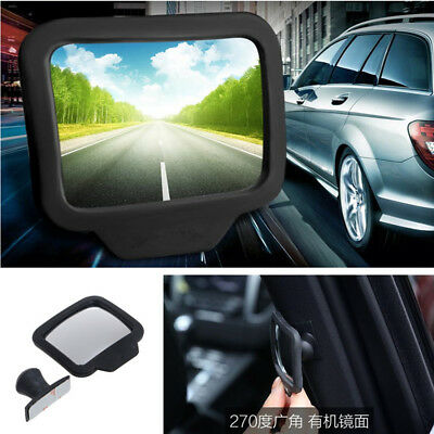 1x Car Baby Rear View Blind Spot Mirrors 270°Wide Angle Exterior Backseat Mirror