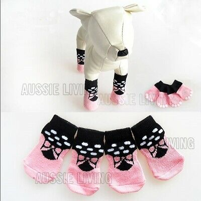 Dog Waterproof Socks Non-Slip XS S M L XL Pink - Puppy Cat Pet Shoes Slippers
