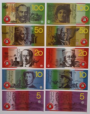 50 Laminated Realistic Australian Play Money Toy Notes won't tear