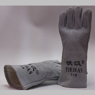 35CM Length Labour Leather WELDERS WELDING Heat Resistant GAUNTLETS GLOVES-Pairs