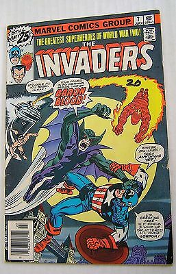 Invaders #7 (Marvel 1975 series) 1st Baron Blood; Jack Kirby cover; VG/FN